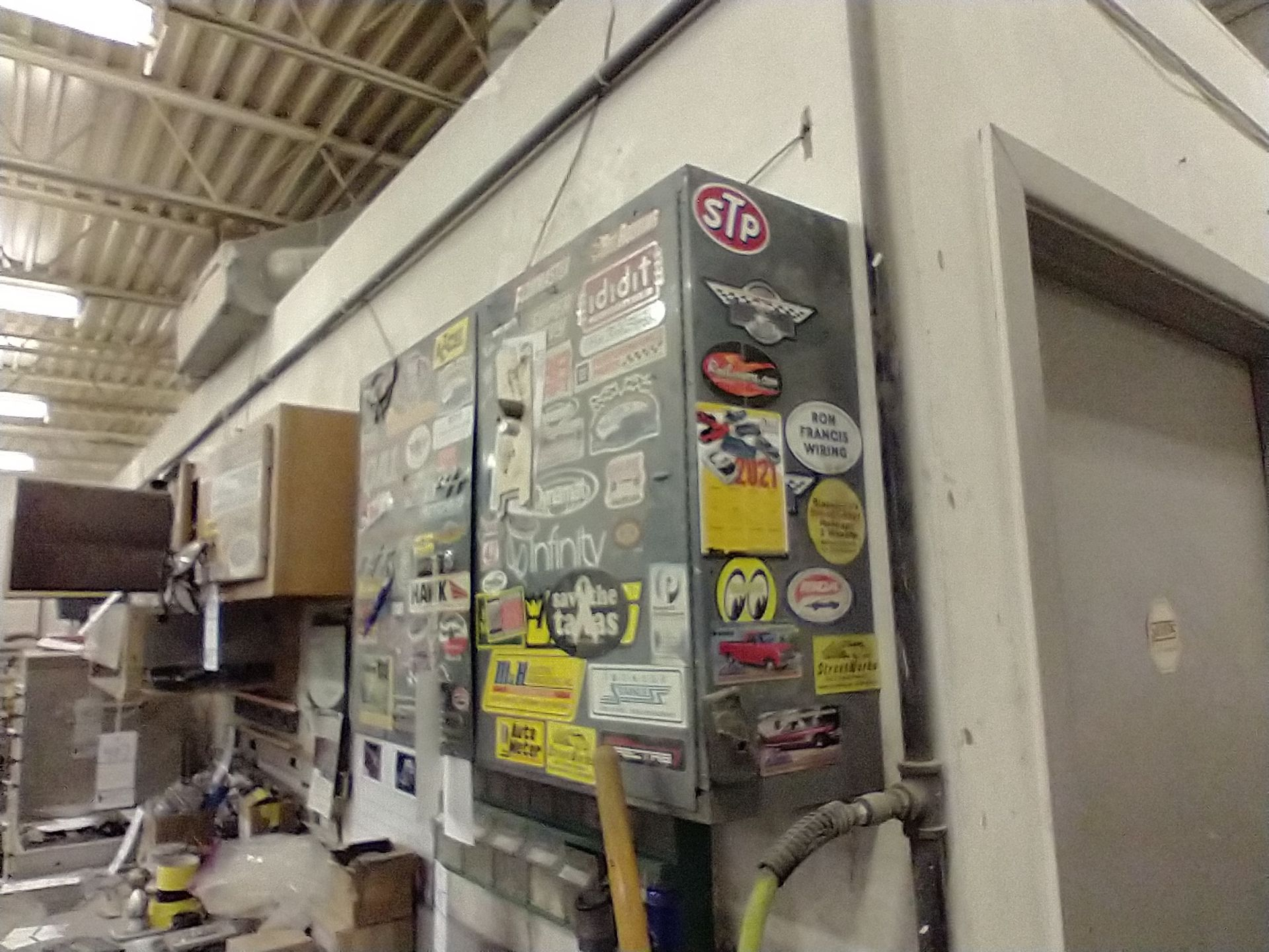 """METAL WALL MOUNT CABINET WITH KEY 34"""" X 9"""" X 22"""" - Image 3 of 3"""