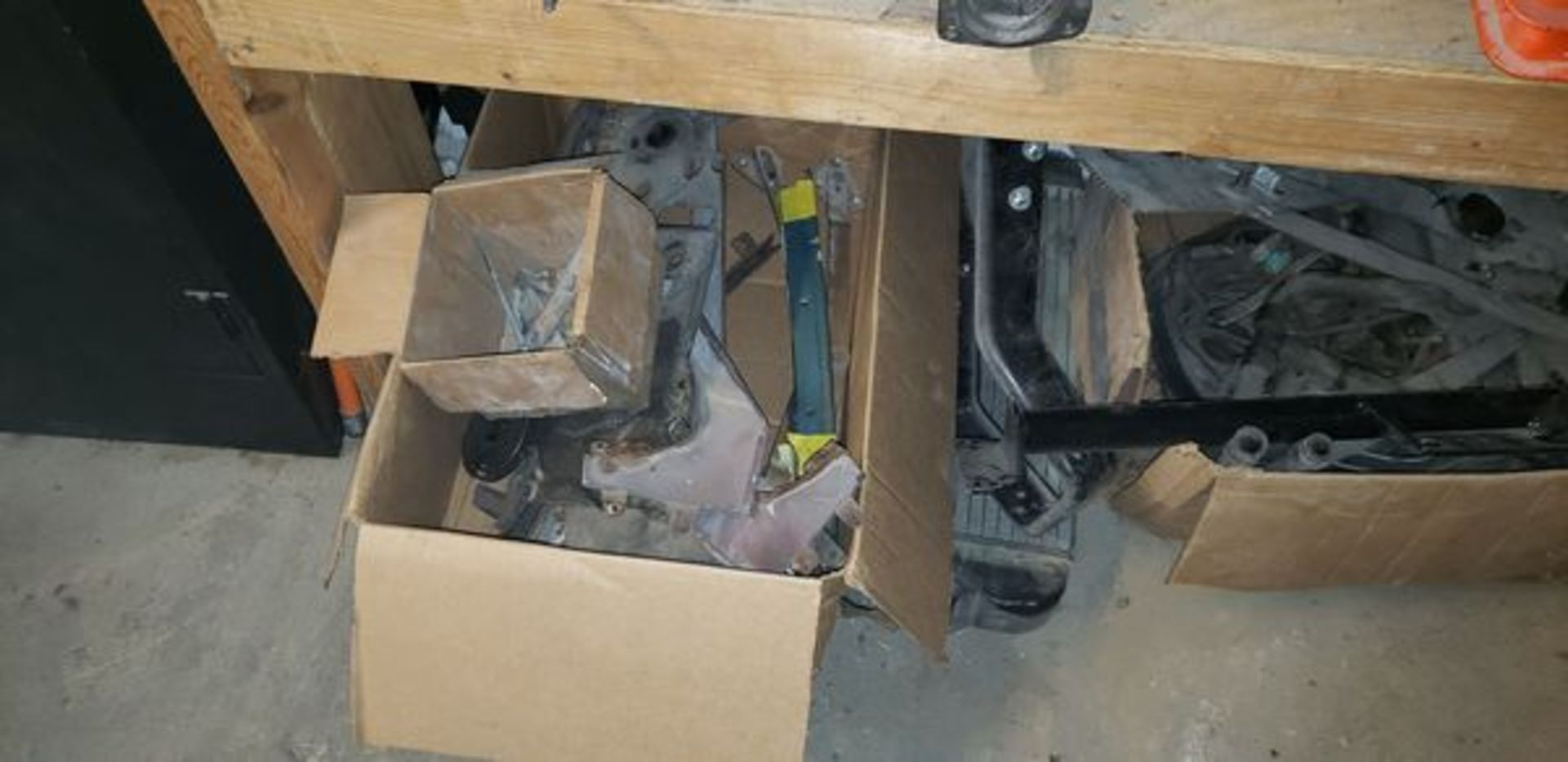 LOT OF ASSORTED CAR PARTS ON 3 SHELVES AND FLOOR - Image 12 of 12