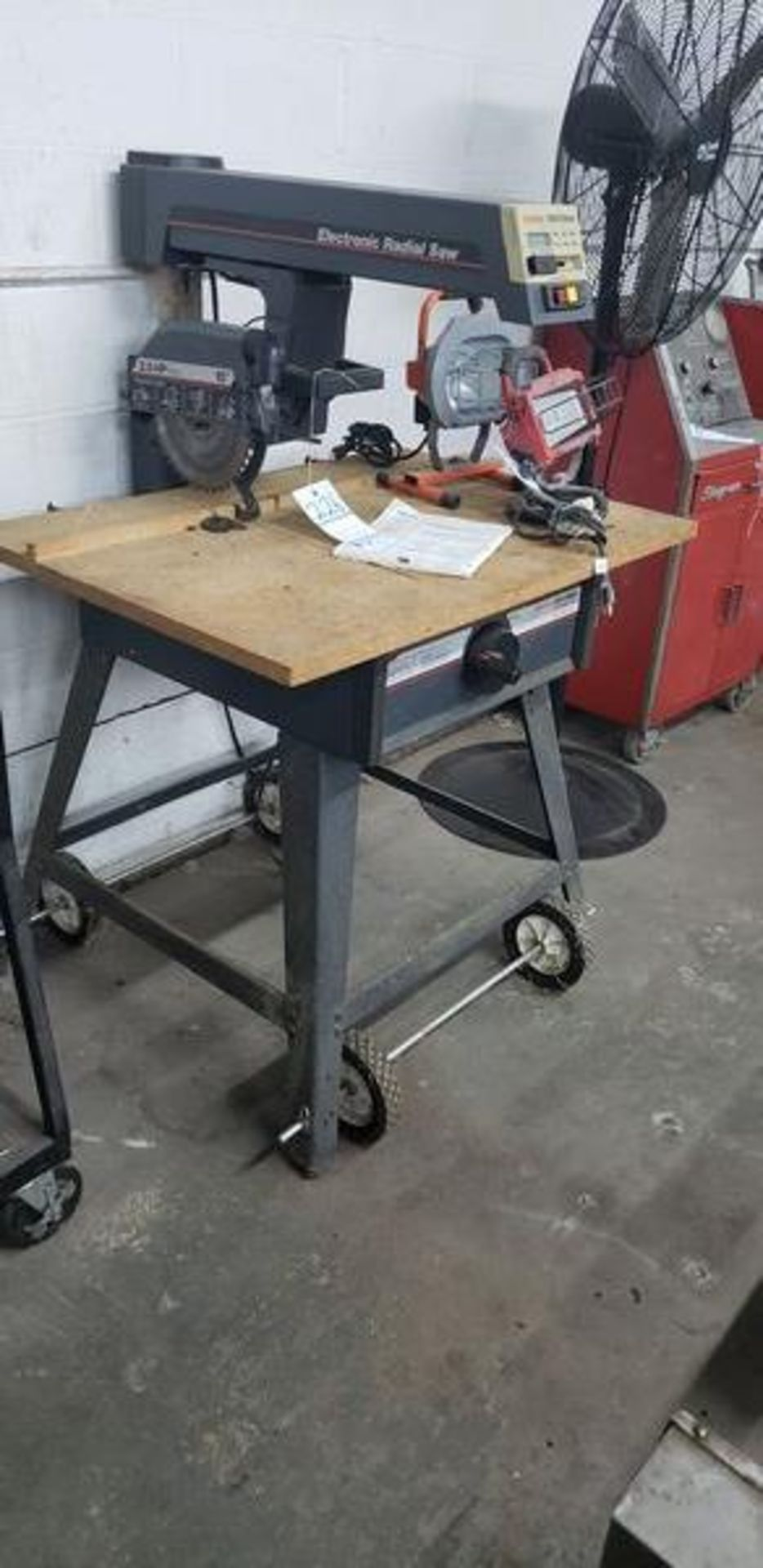 """CRAFTSMAN 10"""" ELECTRIC RADIAL SAW WITH BASE"""