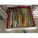 ASSORTED CHISELS AND MISC TOOLS