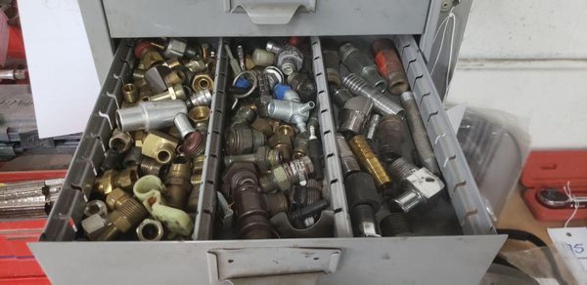 METAL 9 DRAWER CABINET WITH CONTENTS OF AUTO PARTS AND MISC - Image 9 of 10