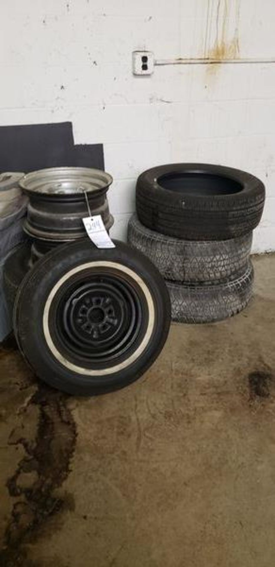 """ASSORTED TIRES WITH EXTRA RIM (3) 14"""", (2) 16"""" AND (1) 18"""""""