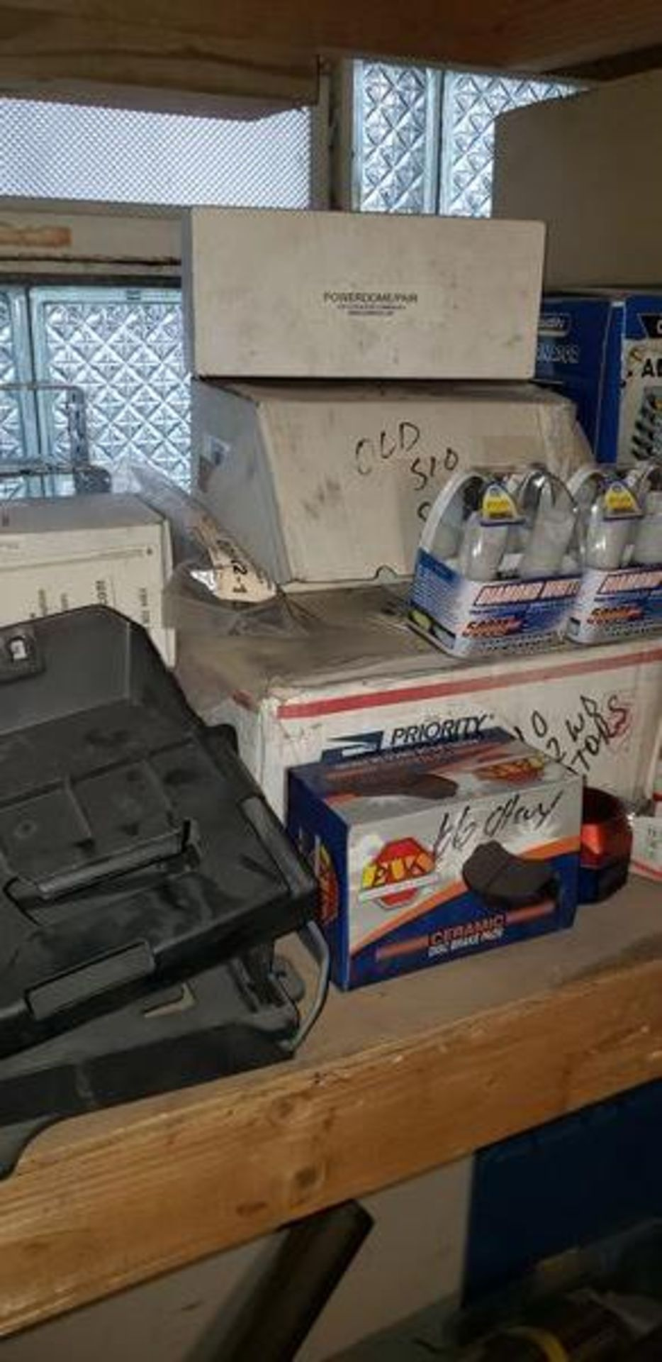 LOT OF ASSORTED CAR PARTS ON 2 SHELVES - Image 9 of 11