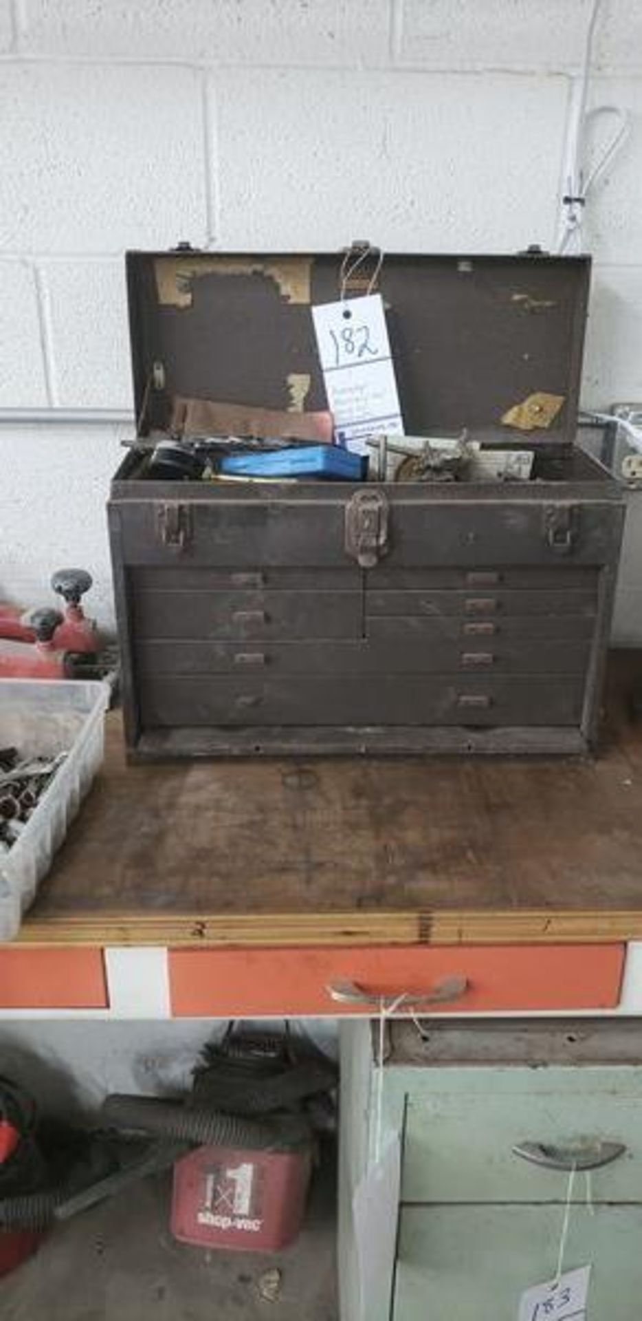 KENNEDY MACHINIST TOOL CHEST WITH CONTENTS