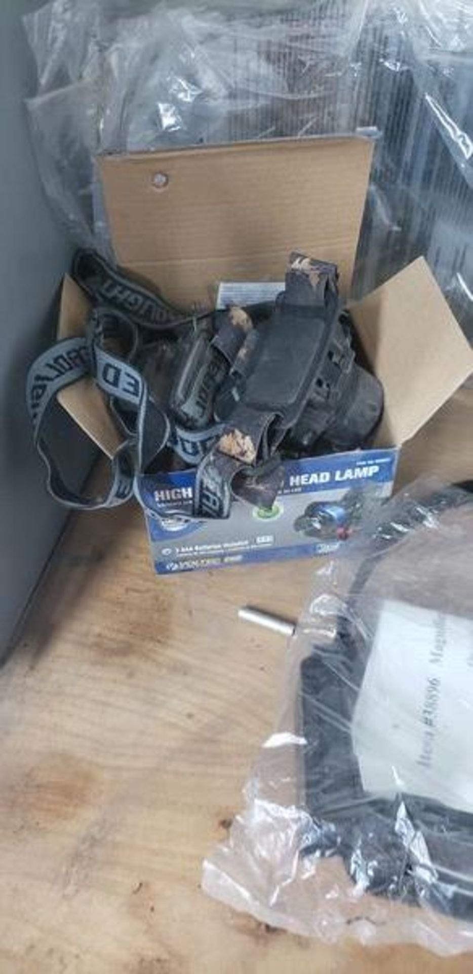 LOT OF HEAD BAND LIGHTS, MAGNIFIER AND FACE SHIELDS - Image 3 of 4