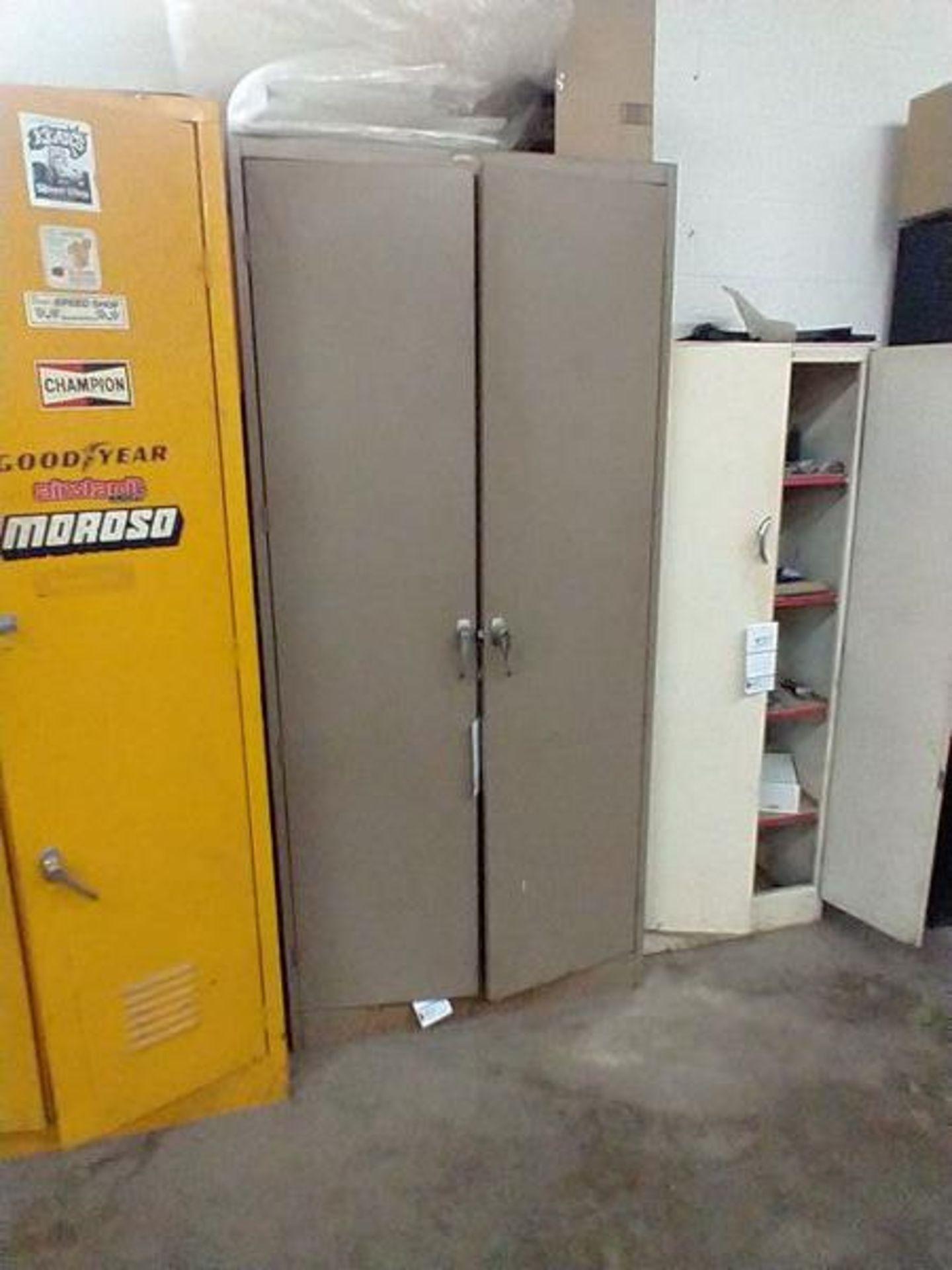 METAL 2 DOOR STORAGE CABINET