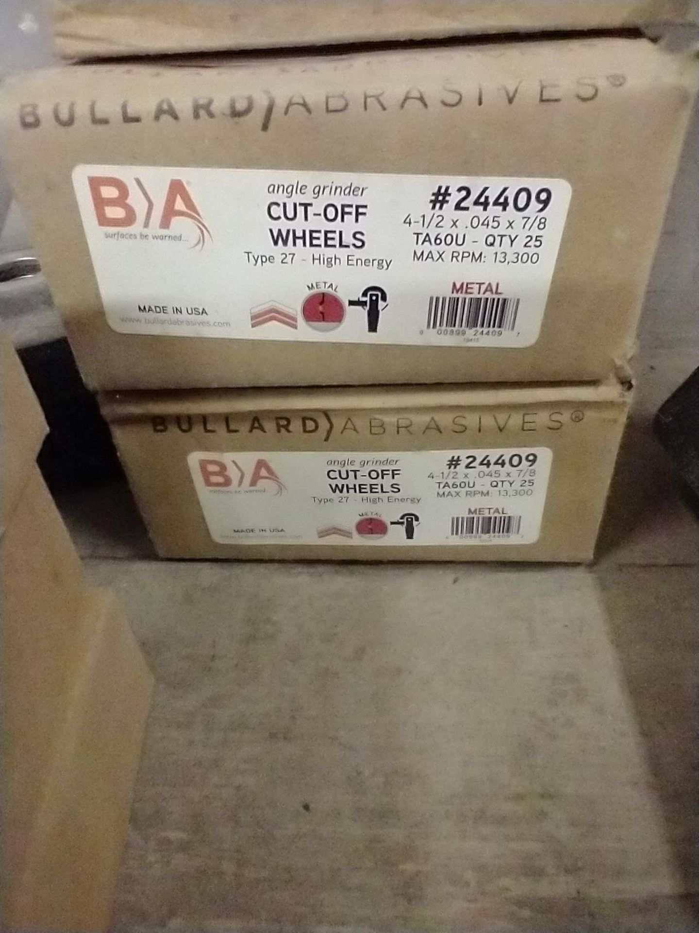 LOT OF ASSORTED CUT OFF WHEELS - Image 3 of 5