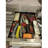 LOT OF BLADES AND TOOLS
