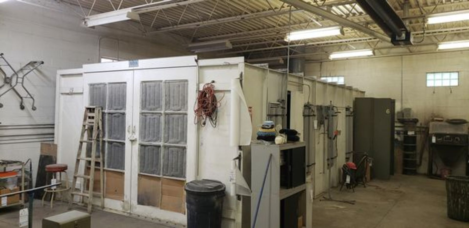 """SBS SPRAYBOOTH SYSTEM WITH LIGHTS AND EXHAUST - 14'2"""" X 24'9"""" X 8'6"""" - BUYER MUST CAP THE ROOF"""