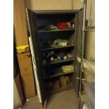 CABINET WITH CONTENTS OF PARTS AND PIECES