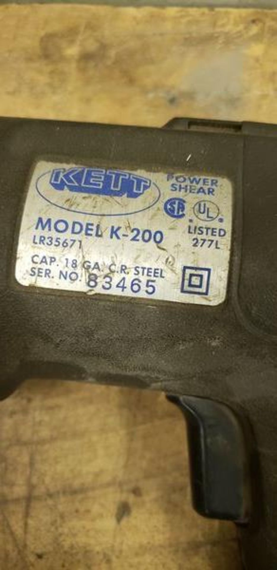 KETT POWER SHEAR MODEL K-200 - Image 3 of 3