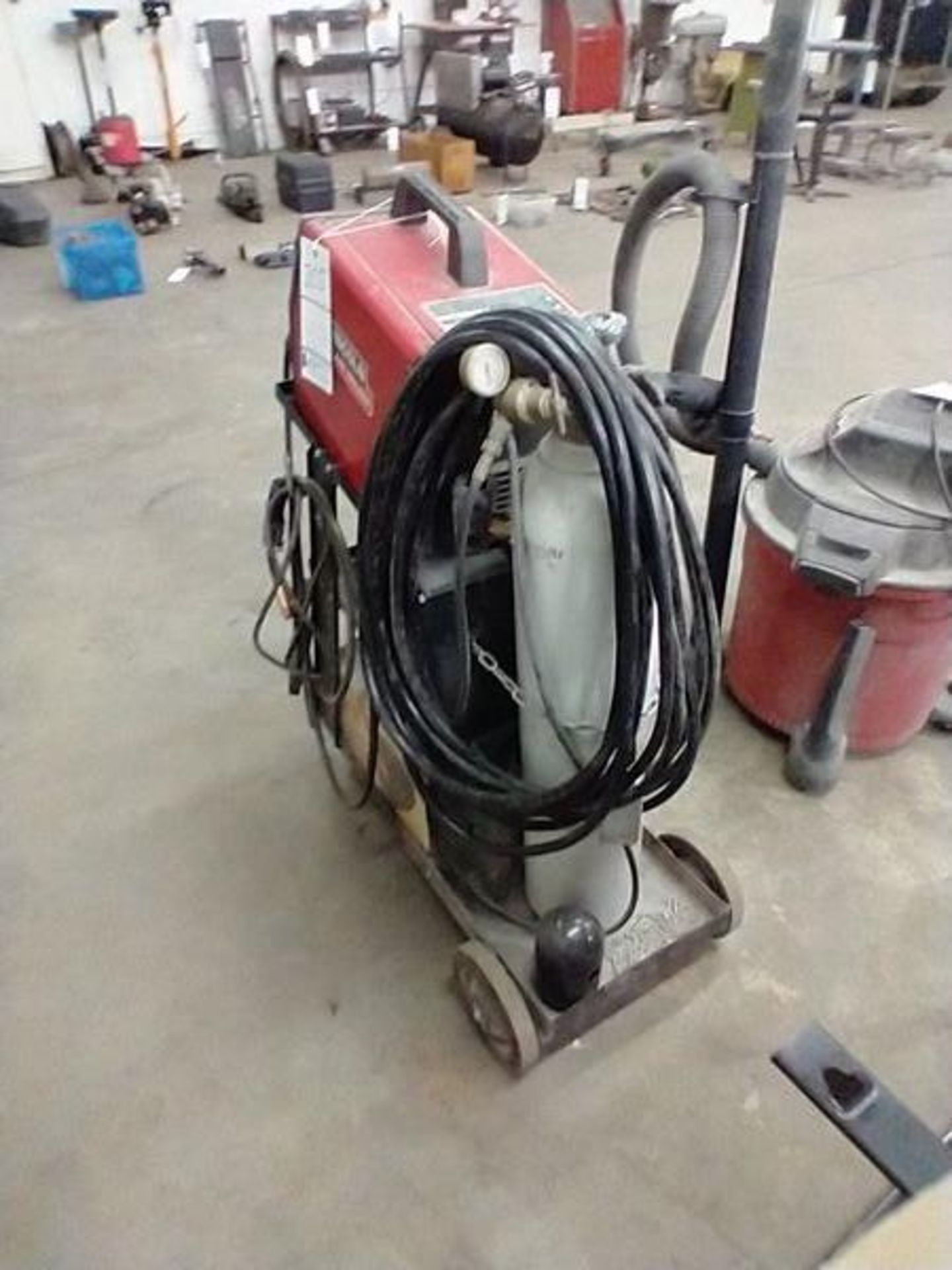 LINCOLN ARC WELDER SP-130T WITH CART AND CONTENTS - Image 5 of 5