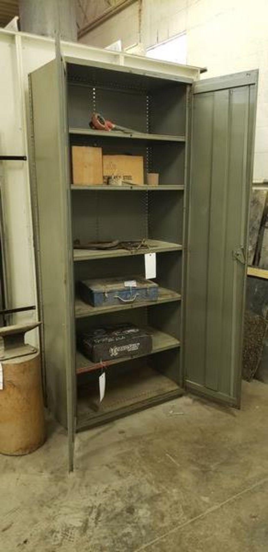 """METAL 2 DOOR STORAGE CABINET 3' X 19"""" X 87"""" - Image 2 of 2"""
