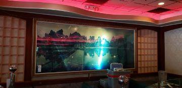"11'4"" X 62"" LIGHTED FRAMED WALL ART BY SHU GUANC INC."