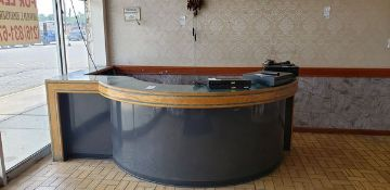 """10' X 7'2"""" RECEPTIONIST COUNTER - L SHAPED WITH ROUND FRONT"""