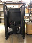 ANUC ARCMATE 100iB MIG WELDING CELL WITH A/B SIDED TABLE AND SERVO DRIVEN ROTARY TABLE ON EACH SIDE