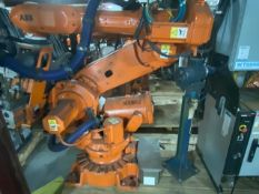 ABB ROBOT MODEL IRB 6640-235KG/2.55M WITH IRC5 CONTROL, CABLES TEACH PENDANT, WTC WELD CONTROL
