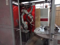 MOTOMAN ARCWORLD WELDING CELL WITH A/B TABLE WITH YASNAC XRC CONTROL