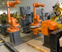 ABB IRB 1600-5/1.45 DUAL ARM ROBOTIC CELL WITH ABB TYPE MTC 750 POSITIONER AND IRC5 CONTROLLERS