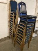 (23) PADDED, STACKABLE CHAIRS
