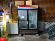 TrueDouble Glass DoorRefrigerator And Chest Freezer Rigging Fee: $150