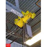Budgit 2-Ton Electric Hoist, With Intercomp Scalr Model CS3000 Rigging Fee: $100
