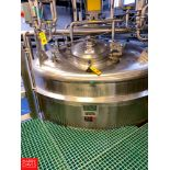 Lee 5,000 Gallon S/S Vacuum Kettle Model: 5000 U S/N: 19708-1-2 with Vertical Agitation, and Spray