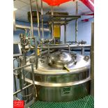 Lee 5,000 Gallon S/S Vacuum Kettle Model: 5000 U S/N: 19708-1-1 with Vertical Agitation, and Spray