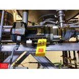 Fristam Centrifugal Pump, with Baldor 3 HP Motor, Check Valve, Reducers, RTD Sensor and Clamps