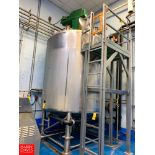 Mueller 3,000 Gallon S/S Dome-Top Cone-Bottom Jacketed Blend Tank, S/N: 133997-3 with Vertical