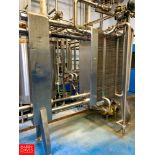 APV 3-Zone S/S Frame Plate Heat Exchanger Model: R51 S/N: 668, with (2) Dividers, Hot Water Set, (2)