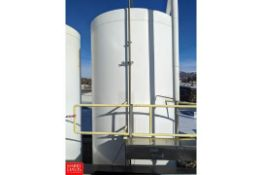 8,000 Gallon Jacketed S/S Sugar Silo With UV Lights