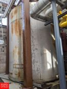 Crepaco 7,000 Gallon Jacketed S/S Silo with Horizontal Agitation Rigging Fee:$1500