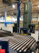 "Lantech Pallet Wrapper, Series: Q1000 Automatic W/ 48"" Wide x 26' Long Conveyor S/N: QA0010G5"