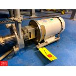 """Ampco Centrifugal Pump Model: LCR20-215-18, with Baldor 5 HP 3,450 RPM Motor, 2"""" x 1.5"""" S/S Head,"""
