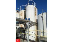 6,000 Gallon JV Northwest Jacketed S/S Silo with Vertical Agitation.