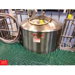Breddo 300 Gallon S/S Jacketed Likwifier, S/N: 3346-5, with Offset 50 HP Motor, Tri Clover Air