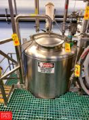 Feldmeier 200 Gallon S/S Dome-Top Jacketed Blend Tank, S/N: L2195-5, with Vertical Agitator
