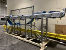 """16"""" X 24' S/S Frame Cleat Type Power Belt Conveyor, with S/S Clad Motor"""