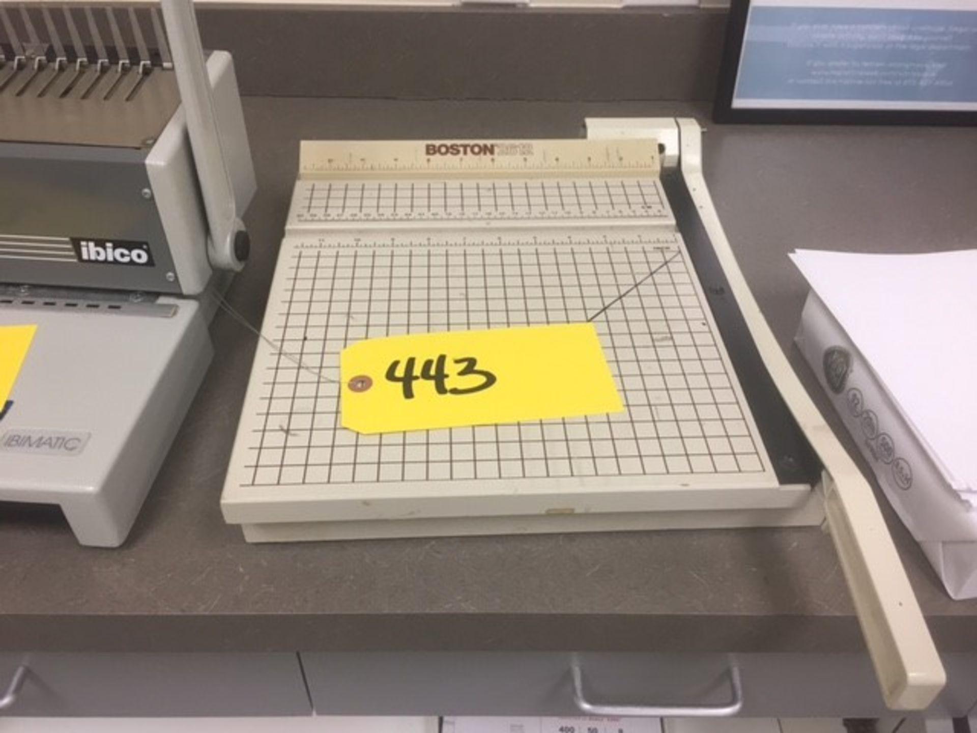 Paper Cutter Model: Boston 2612 Rigging: $25