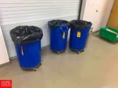 3 Brute Trash Cans Rigging: $25