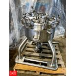 Mueller 50 Gallon Vacuum Jacketed Dome-Top Dish-Bottom S/S Tank, Mounted on S/S Skid