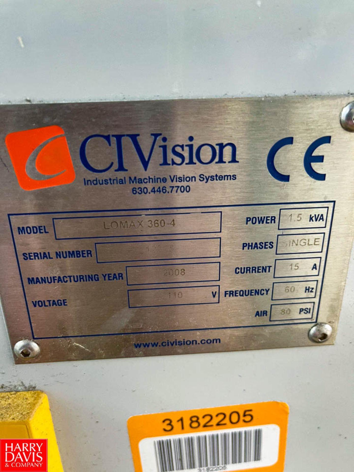 CIVision 360 Degree Bottle Inspection System Model Lomax360-4 - Image 2 of 2
