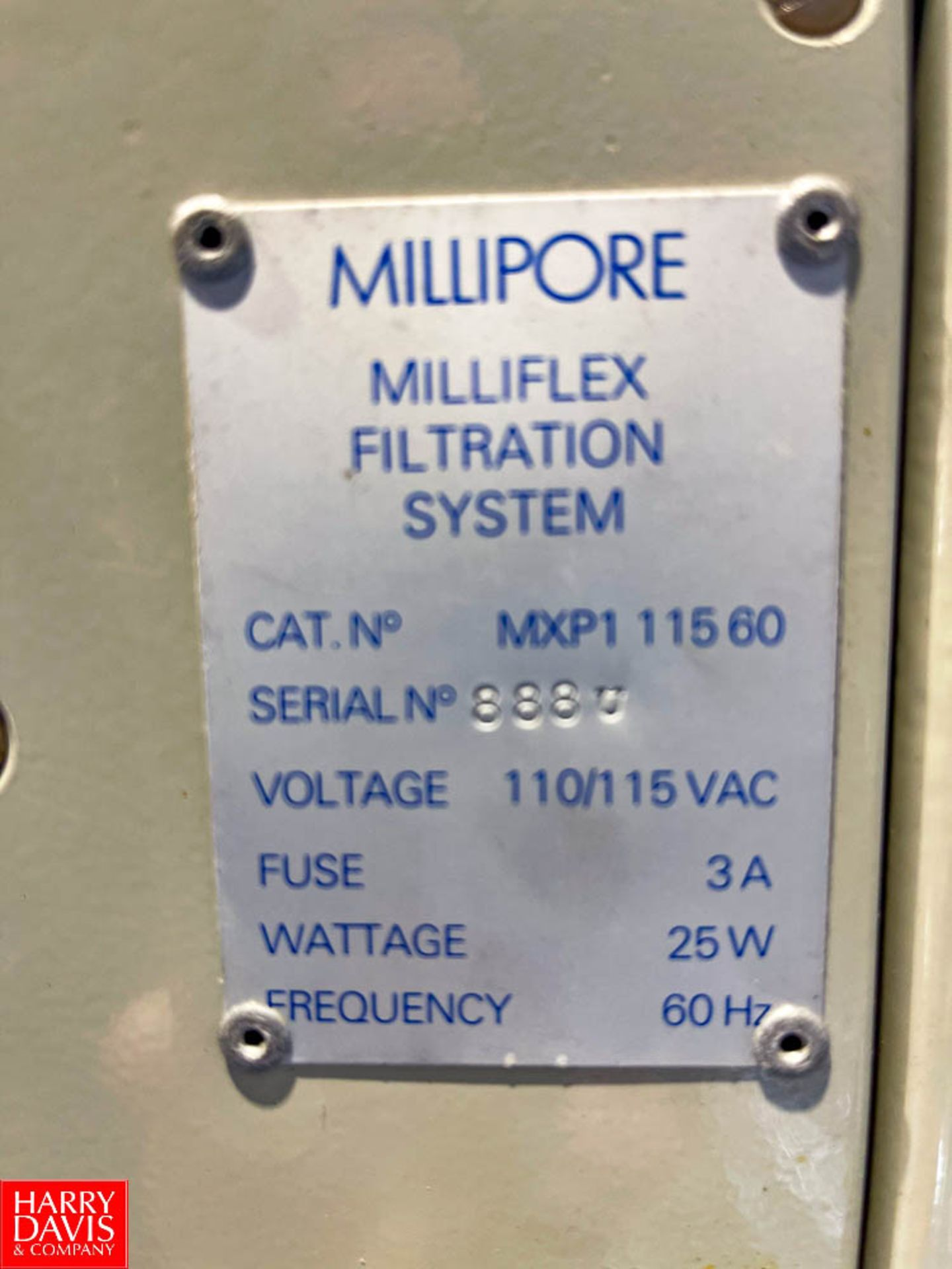 Millipore Milliflex Filtration System Model MXP1 11560, Single Head Pump - Image 2 of 2