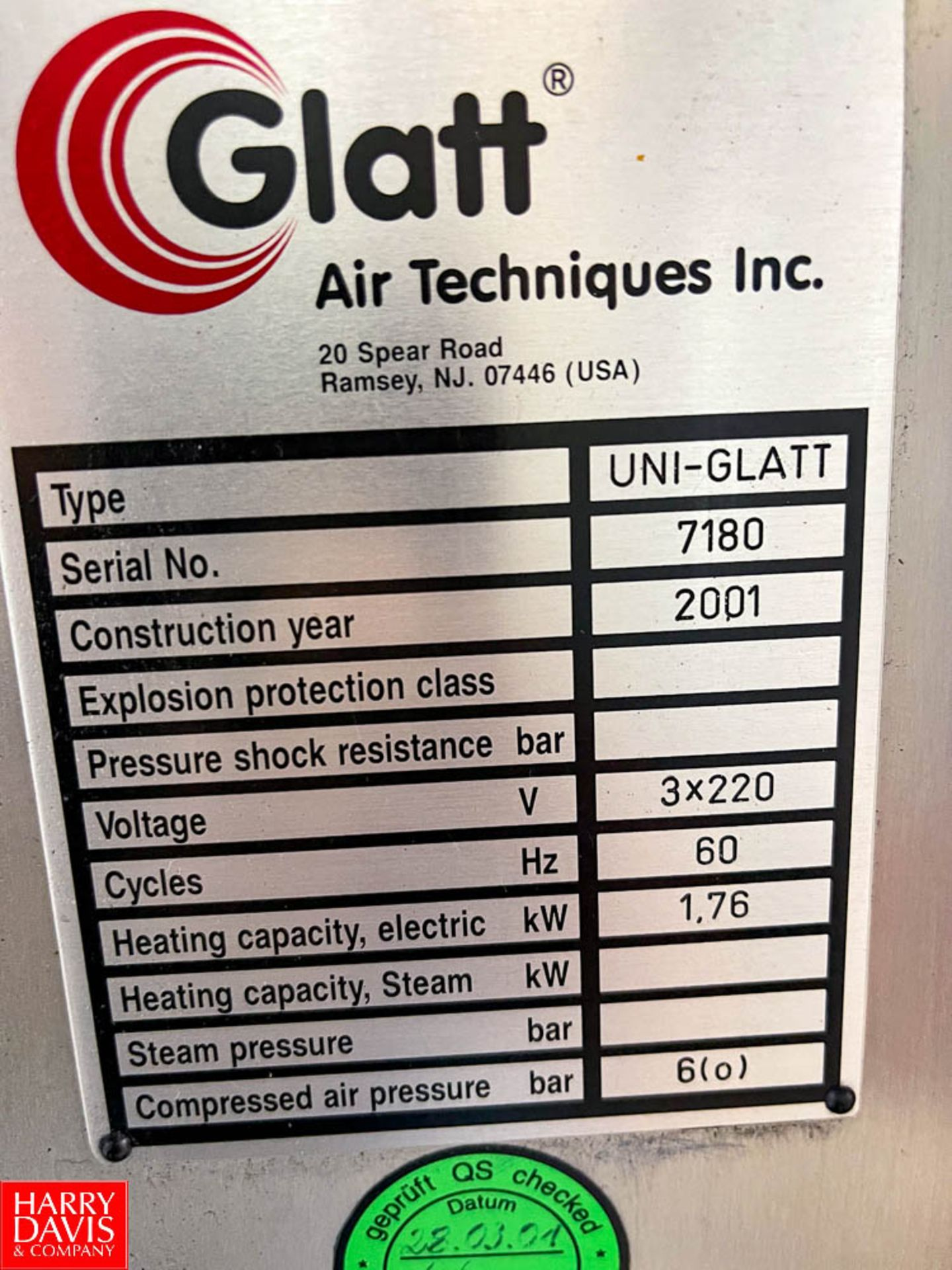 Glatt Air Techniques UNI-GLATT - Image 2 of 2
