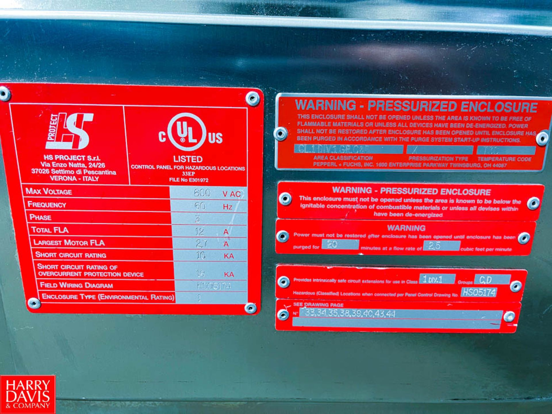 Pressurized 2-Door S/S Portable Control Panel - Image 6 of 7