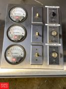 S/S Control Panel with (3) Magnehelic Water Gauges and (3) Vari-Speed Controllers
