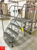 """Uline 40"""" Portable Work Platform with 800 LB Capacity, 36"""" Width x 34"""" Length, (4) Steps and"""