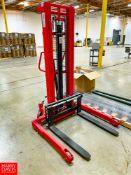 "Dayton Portable Lift Model 4VMF1, 2,000 LB Capacity, 118"" Max Lift Height. Rigging Fee: $75"