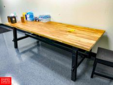 """Wooden Table, 92"""" Length x 39"""" Depth x 29"""" Height"""